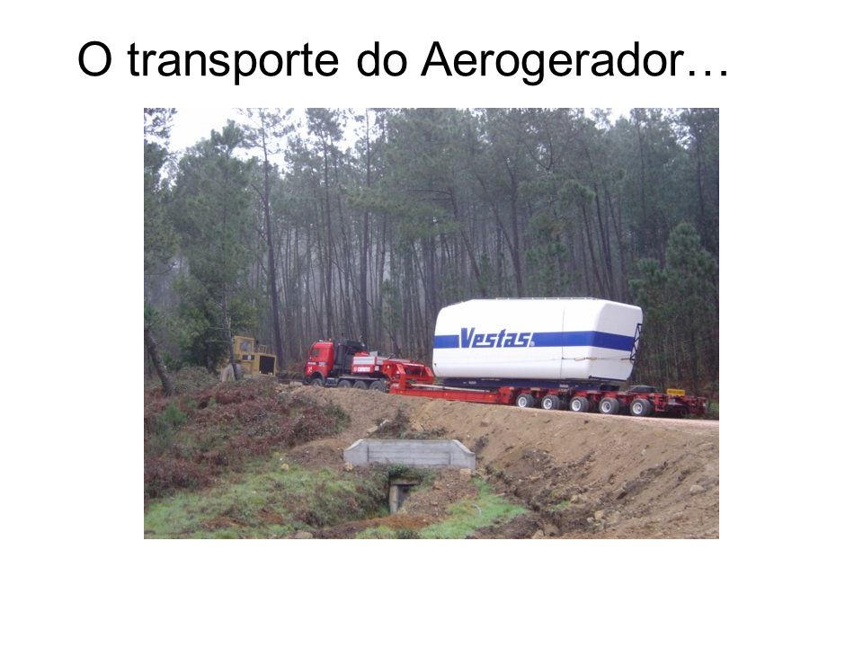 O transporte do Aerogerador…