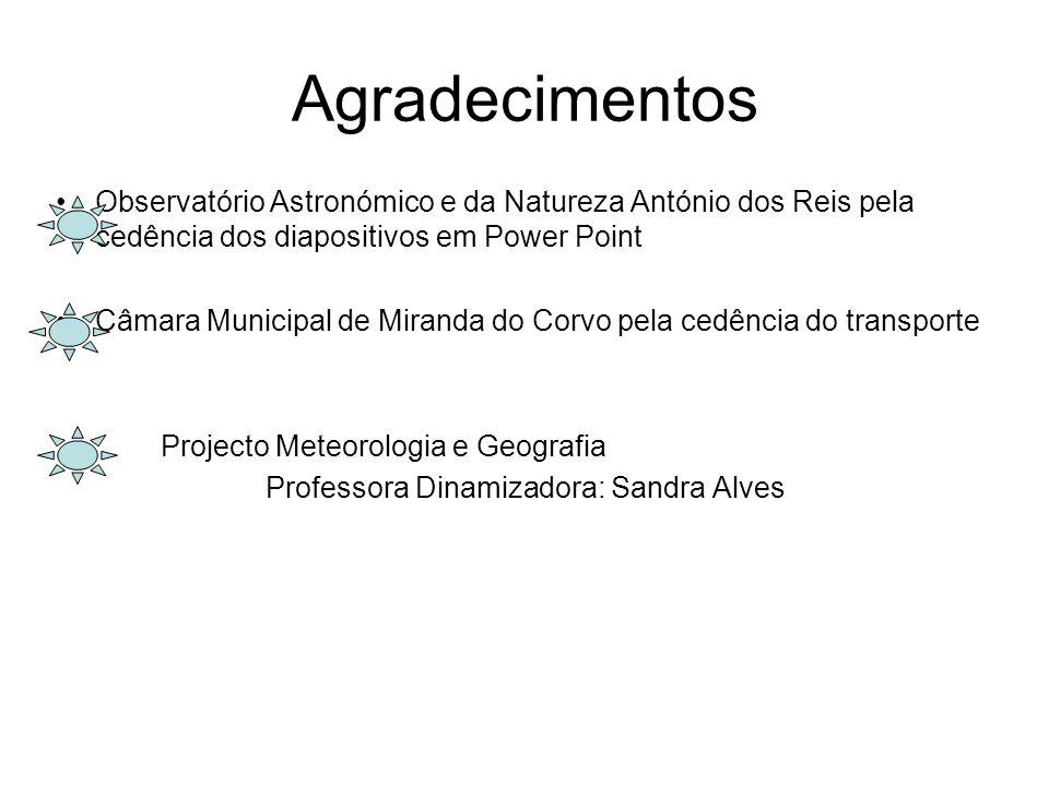 4 de Maio Projecto Meteorologia e Geografia no OANAR Trabalho elaborado pelos alunos do Projecto Meteorologia e Geografia da EBI/JI Prof. Dr. Ferrer C