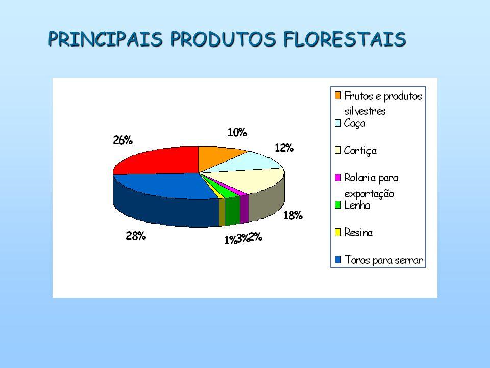 PRINCIPAIS PRODUTOS FLORESTAIS
