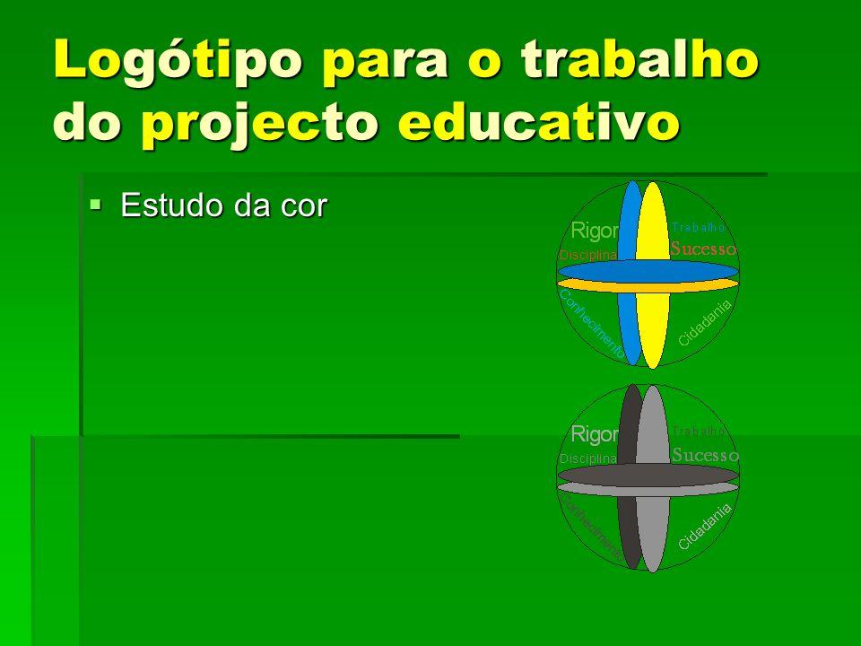 Logótipo para o trabalho do projecto educativo Estudo da cor Estudo da cor