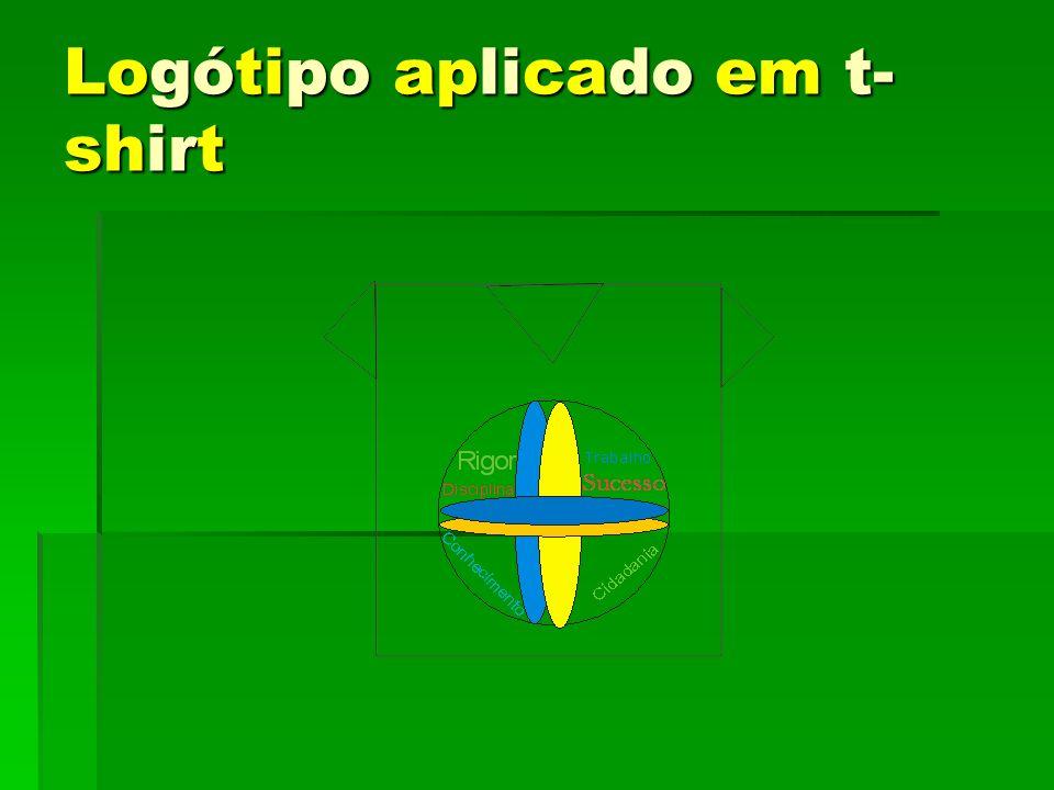 Logótipo aplicado em t- shirt