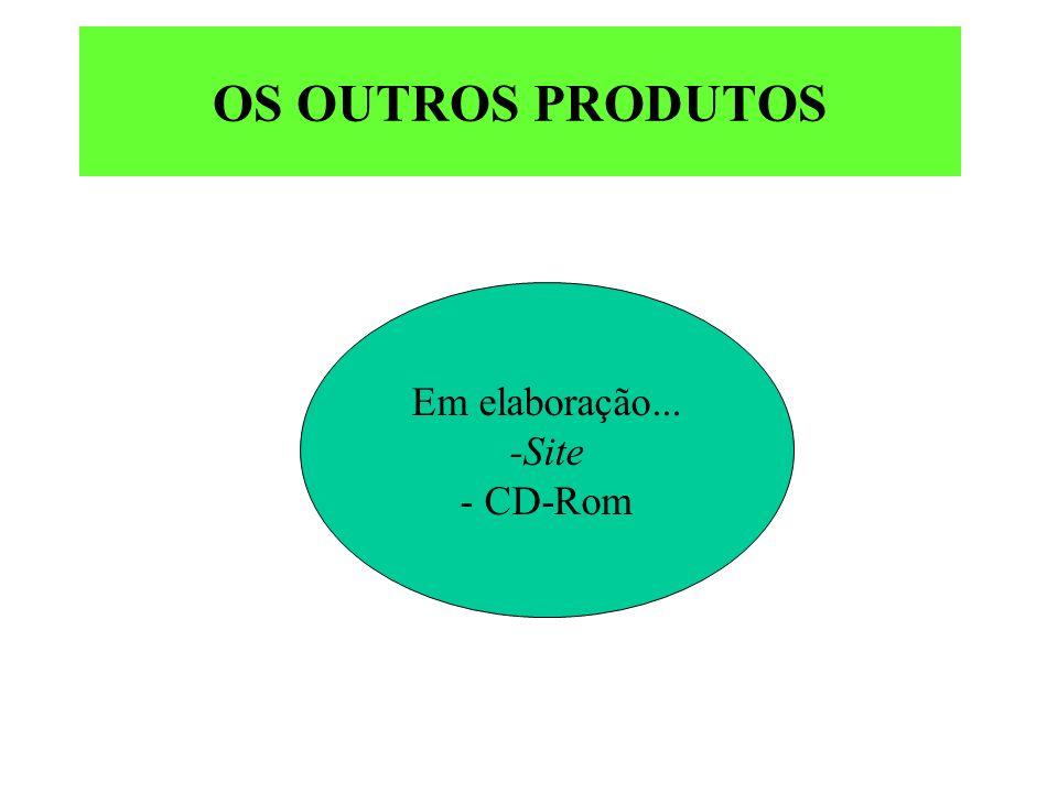 Em elaboração... -Site - CD-Rom OS OUTROS PRODUTOS