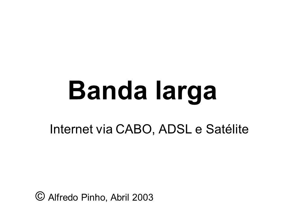 Banda larga Internet via CABO, ADSL e Satélite © Alfredo Pinho, Abril 2003