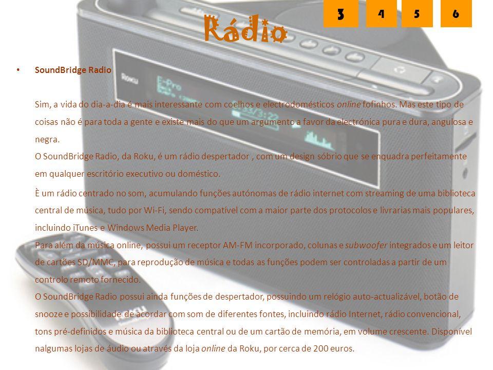Rádio SoundBridge Radio Sim, a vida do dia-a-dia é mais interessante com coelhos e electrodomésticos online fofinhos.