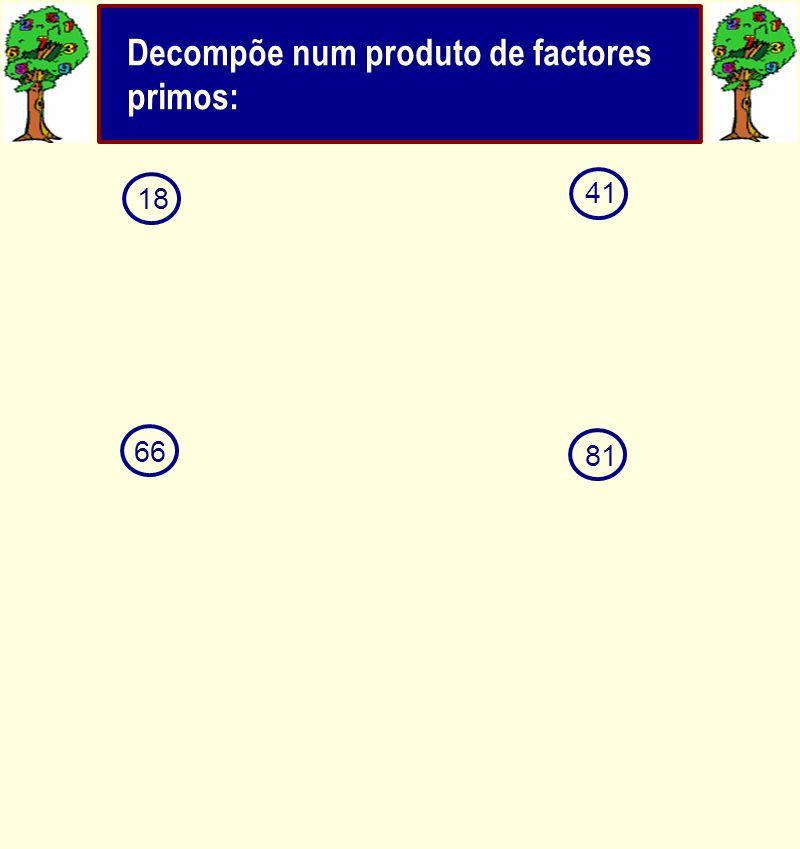 41 18 6681 Decompõe num produto de factores primos: