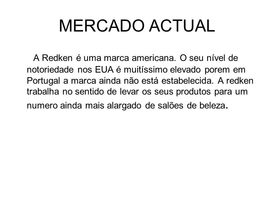 MERCADO ACTUAL A Redken é uma marca americana.