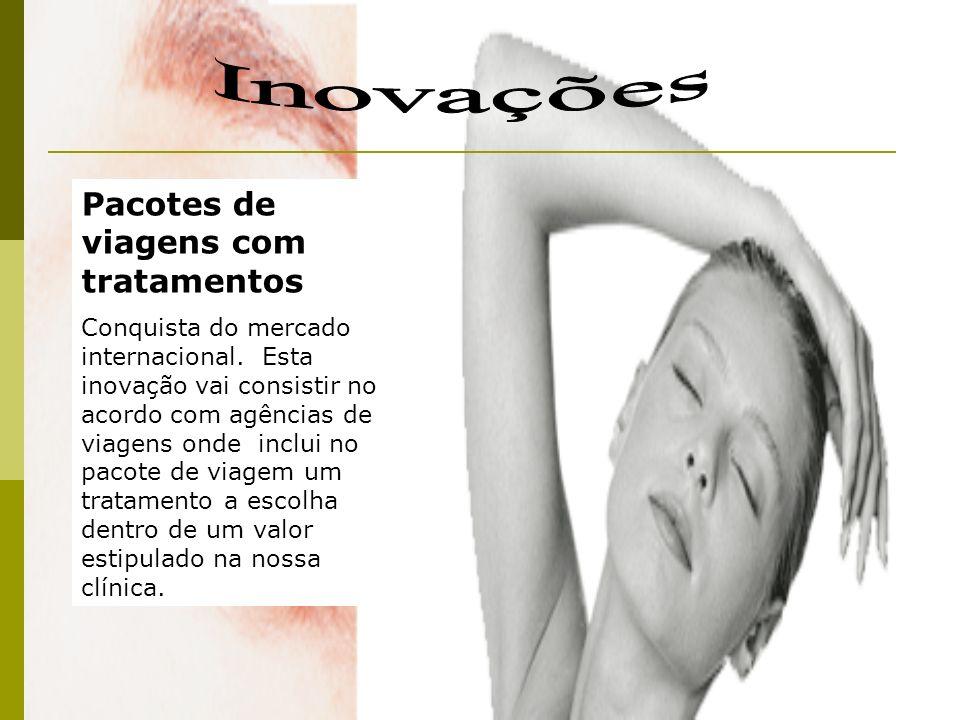 Pacotes de viagens com tratamentos Conquista do mercado internacional. Esta inovação vai consistir no acordo com agências de viagens onde inclui no pa