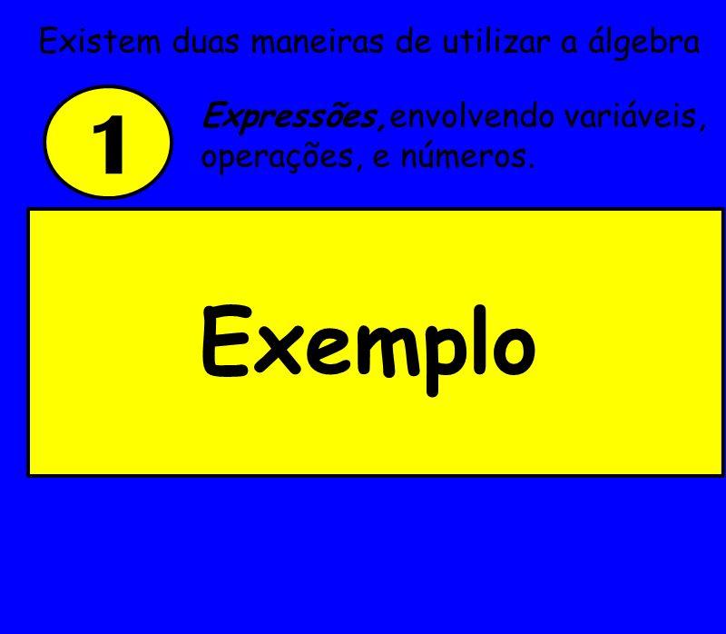 Substitui-se y pelo valor que lhe foi atribuído: y + 9 =2 + 9 = 11 Se y = 2, qual o valor da expressão y + 9.
