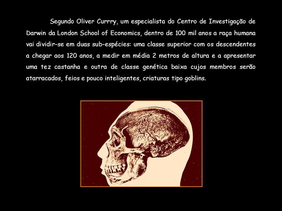 Segundo Oliver Currry, um especialista do Centro de Investigação de Darwin da London School of Economics, dentro de 100 mil anos a raça humana vai div