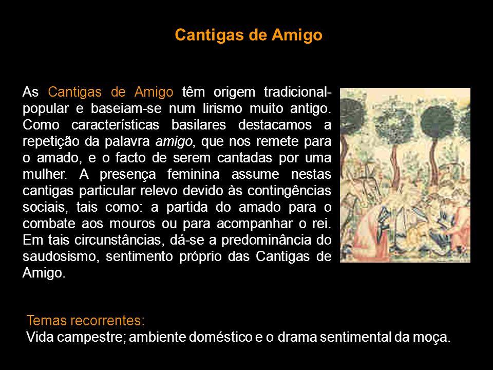 As Cantigas de Escárnio e de Maldizer sofrem a influência da sátira galego-portuguesa e do sirventês provençal.