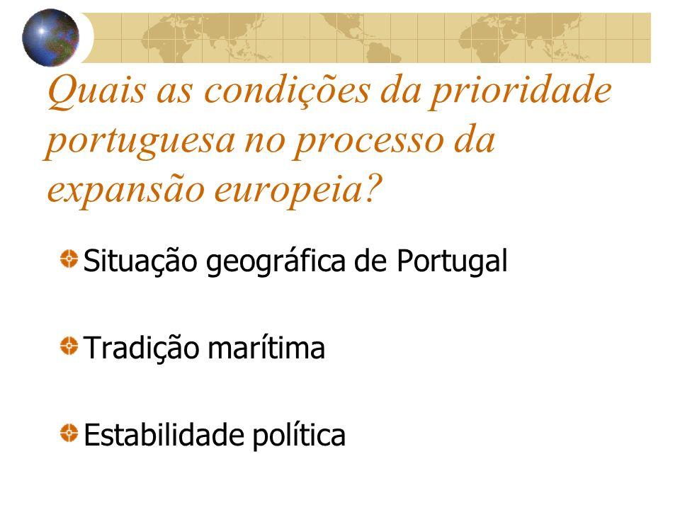 Quais as motivações da expansão europeia e portuguesa? Motivação económica- Escassez de ouro para amoedar e, assim, conseguir aceder ao comércio das e