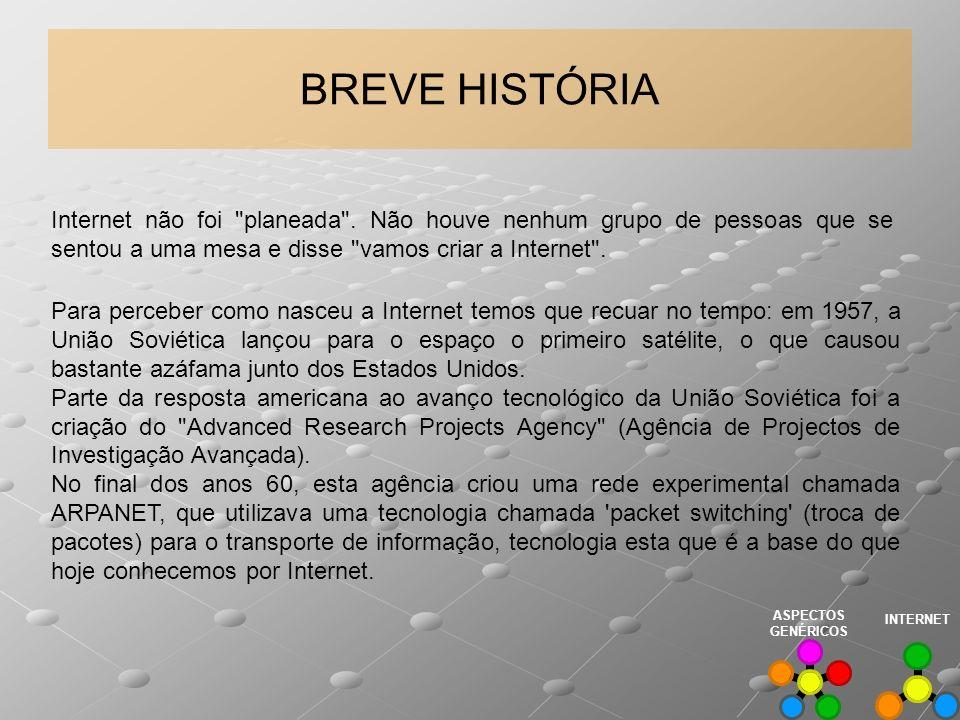 BREVE HISTÓRIA Internet não foi