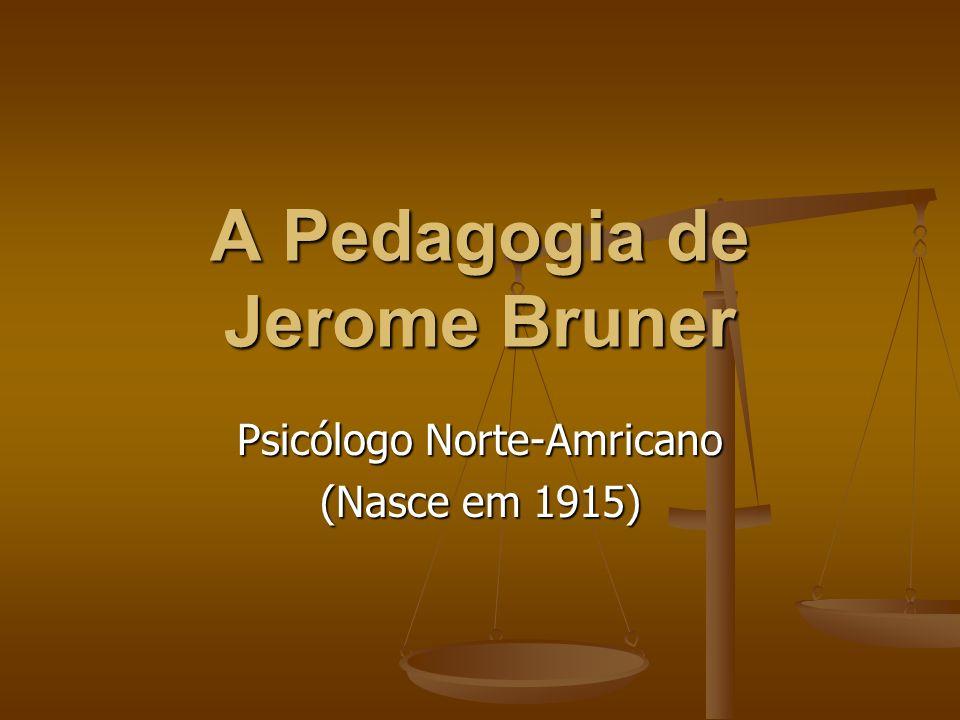 A Pedagogia de Jerome Bruner Psicólogo Norte-Amricano (Nasce em 1915)