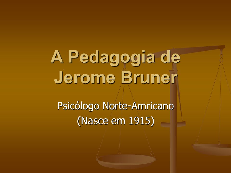Jerome S.Bruner nasceu em 1915.