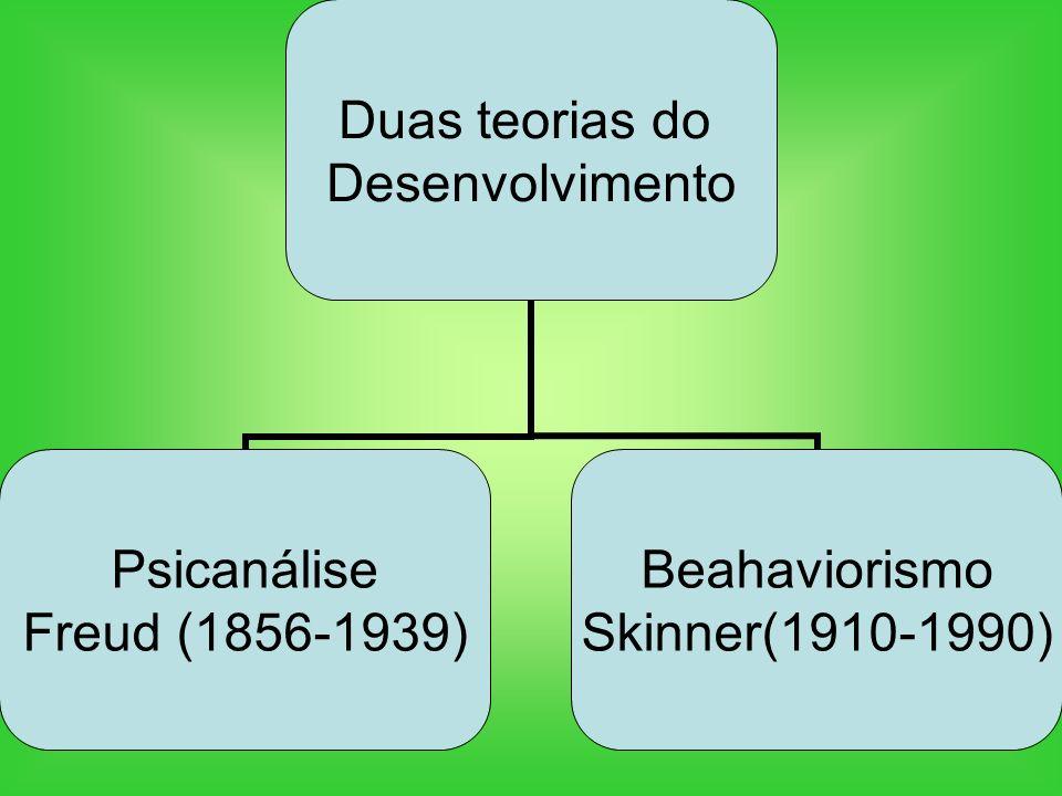 Duas teorias do Desenvolvimento Psicanálise Freud (1856- 1939) Beahaviorismo Skinner(1910- 1990)