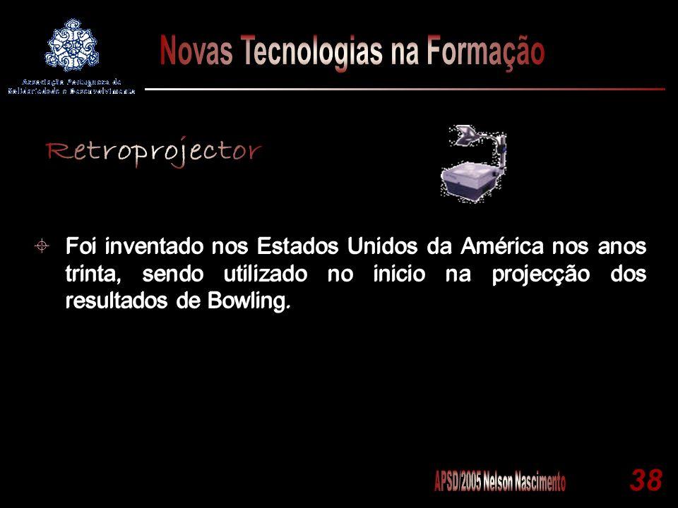 38 Foi inventado nos Estados Unidos da América nos anos trinta, sendo utilizado no inicio na projecção dos resultados de Bowling.