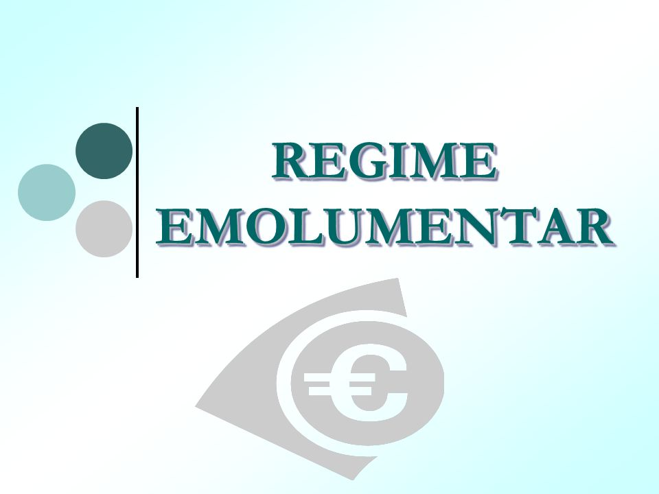 REGIME EMOLUMENTAR