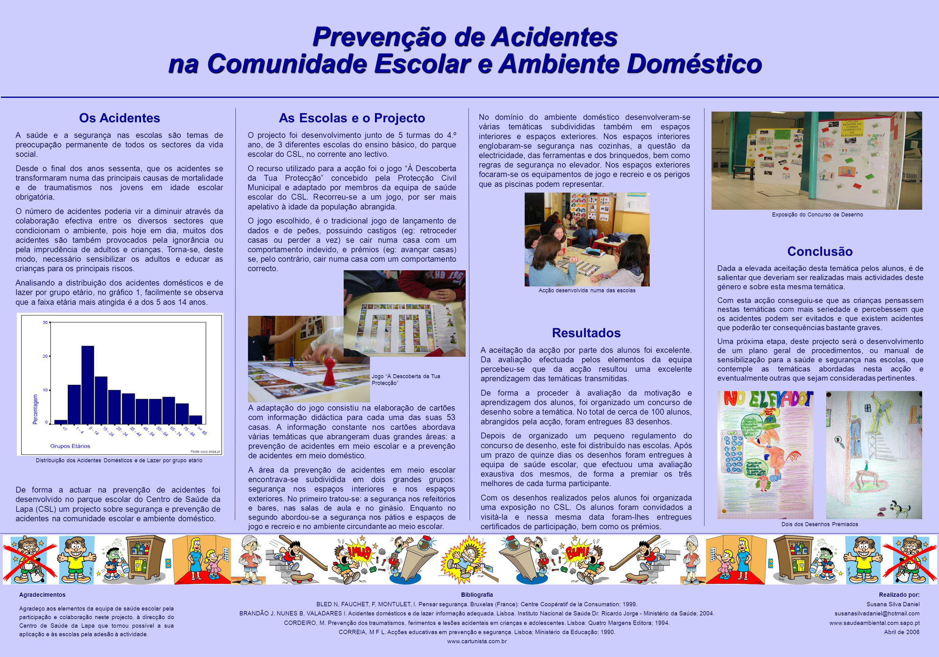 Prevenção de Acidentes na Comunidade Escolar e Ambiente Doméstico Os Acidentes A saúde e a segurança nas escolas são temas de preocupação permanente d