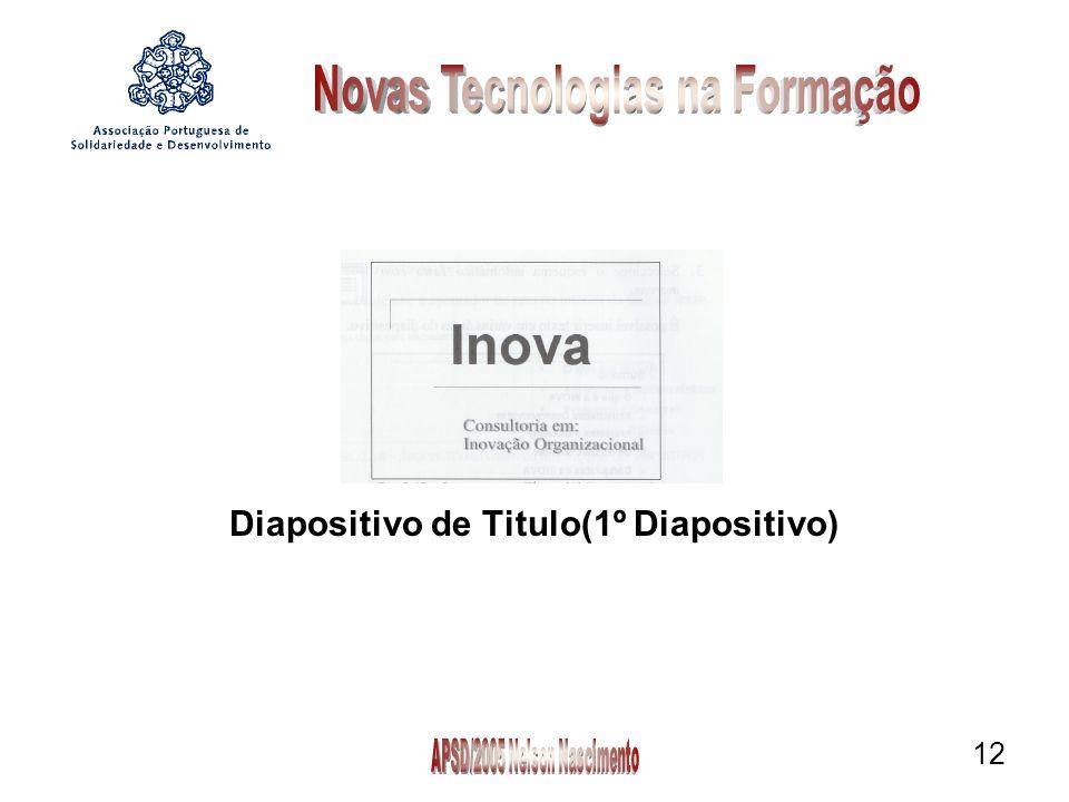 12 Diapositivo de Titulo(1º Diapositivo)