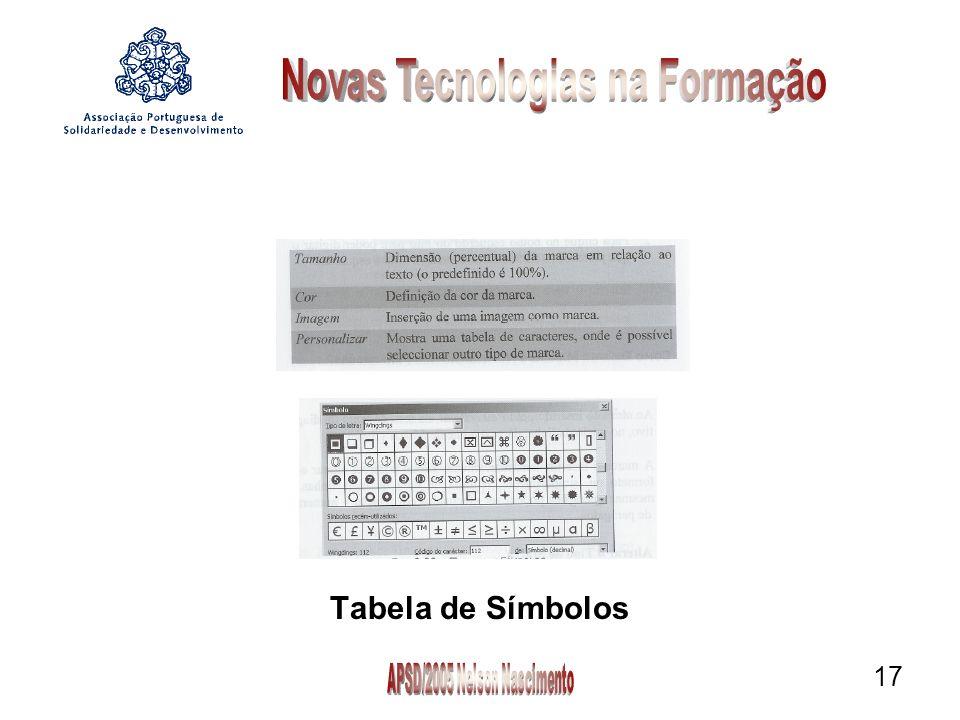 17 Tabela de Símbolos