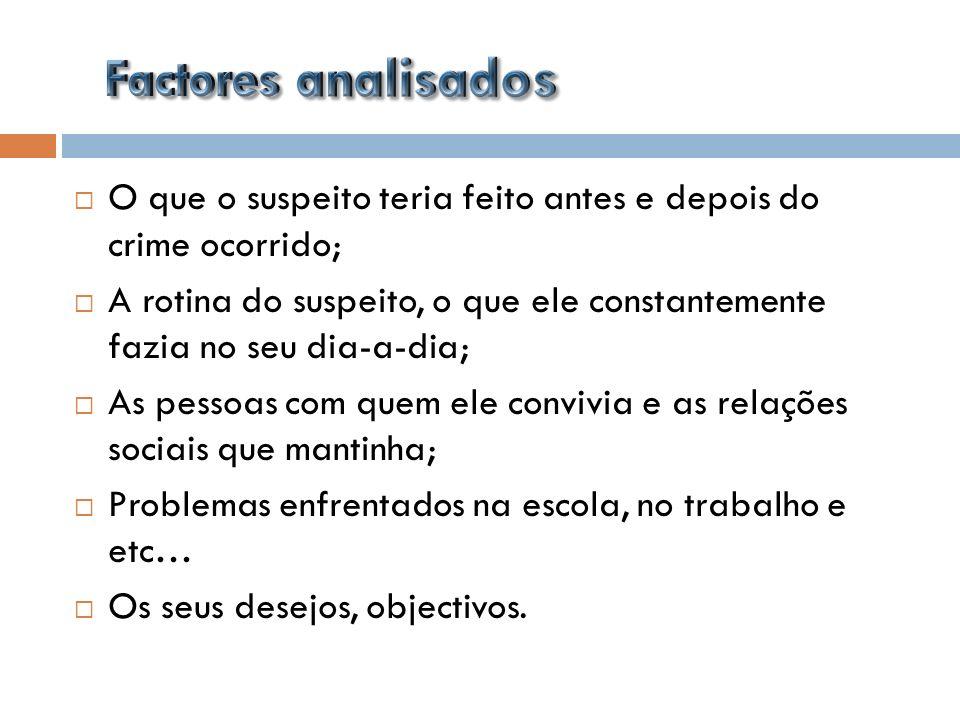 Esta é uma das áreas da intervenção dos psicólogos criminais, apesar de em Portugal não ser muito usual.