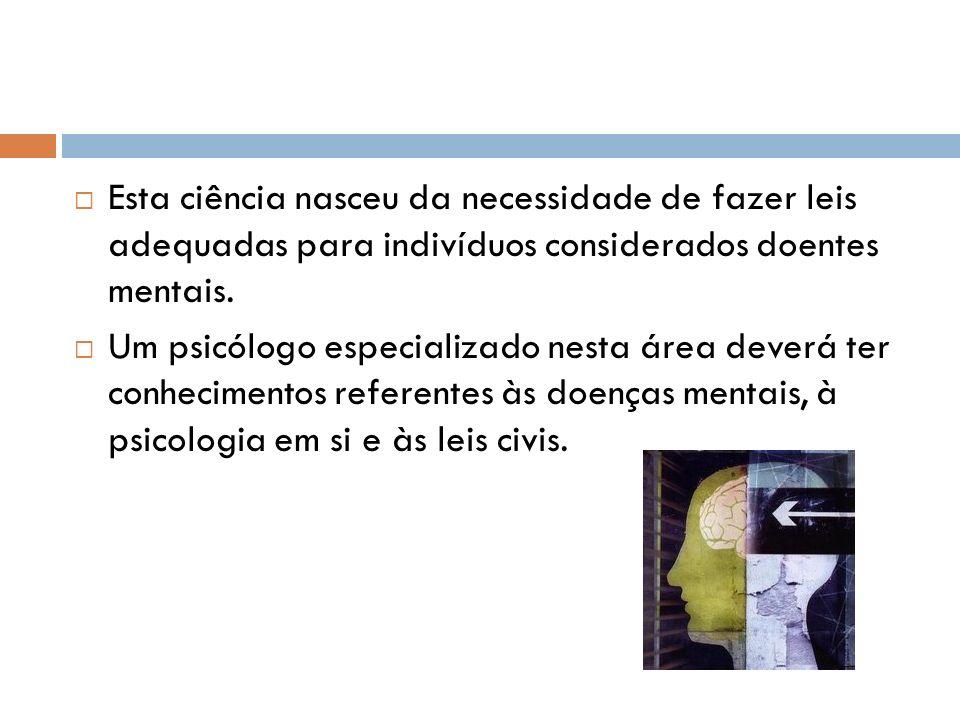 Em Portugal ainda não existem programas de intervenção de psicólogos criminais em todas as áreas em que podem intervir.