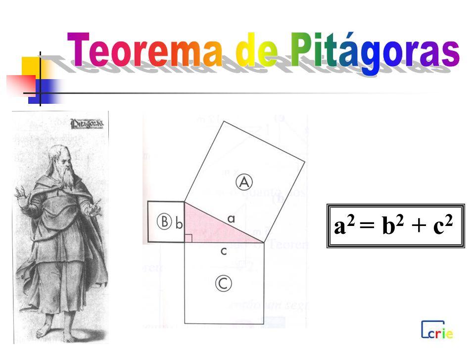 a 2 = b 2 + c 2