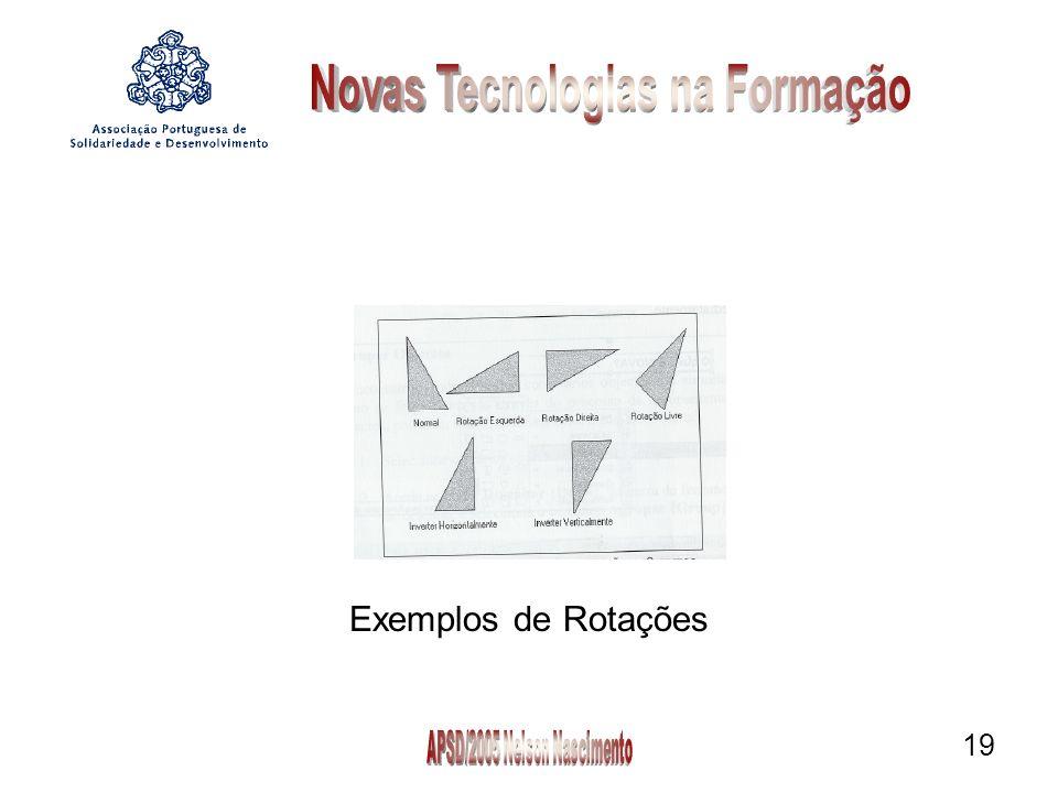 19 Exemplos de Rotações