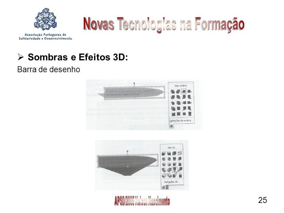 25 Sombras e Efeitos 3D: Barra de desenho