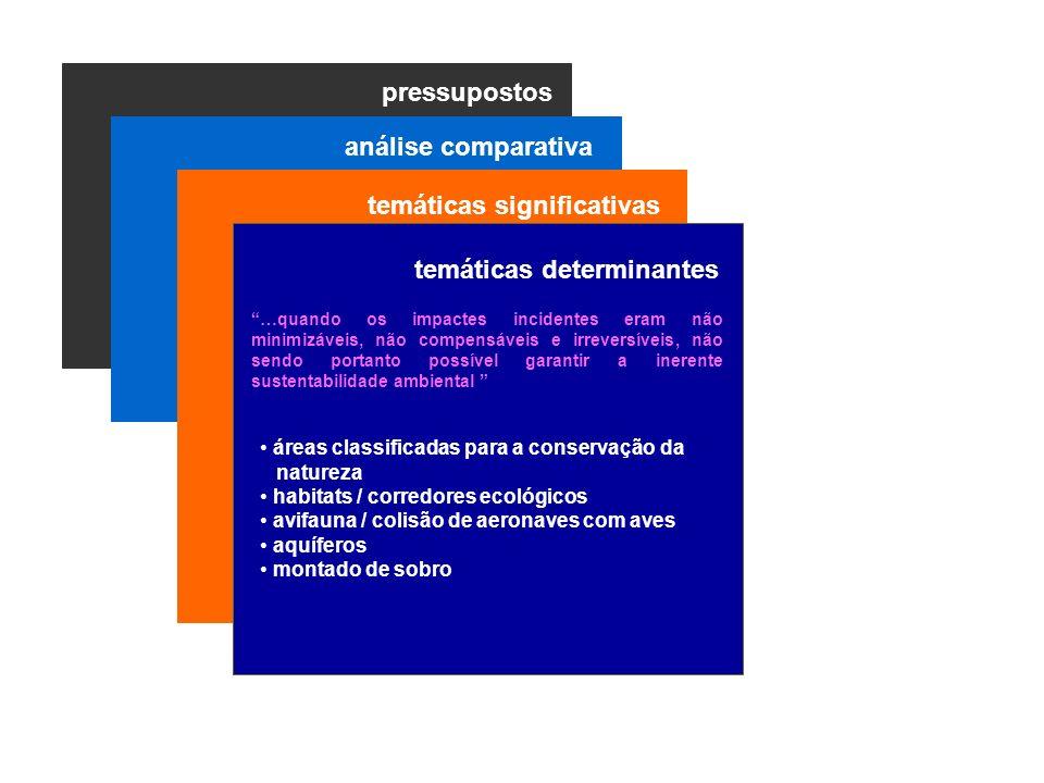 pressupostos temáticas significativas temáticas determinantes áreas classificadas para a conservação da natureza habitats / corredores ecológicos avif