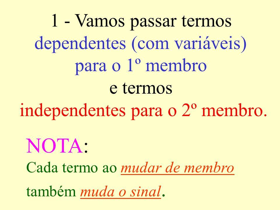 EQUAÇÕES 4m – 8 = 4 + 7m É dada a seguinte equação Vamos encontrar a raiz ou solução