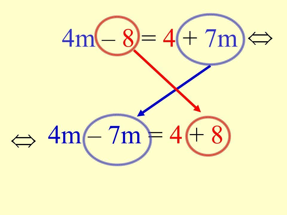 1 - Vamos passar termos dependentes (com variáveis) para o 1º membro e termos independentes para o 2º membro. NOTA: Cada termo ao mudar de membro tamb