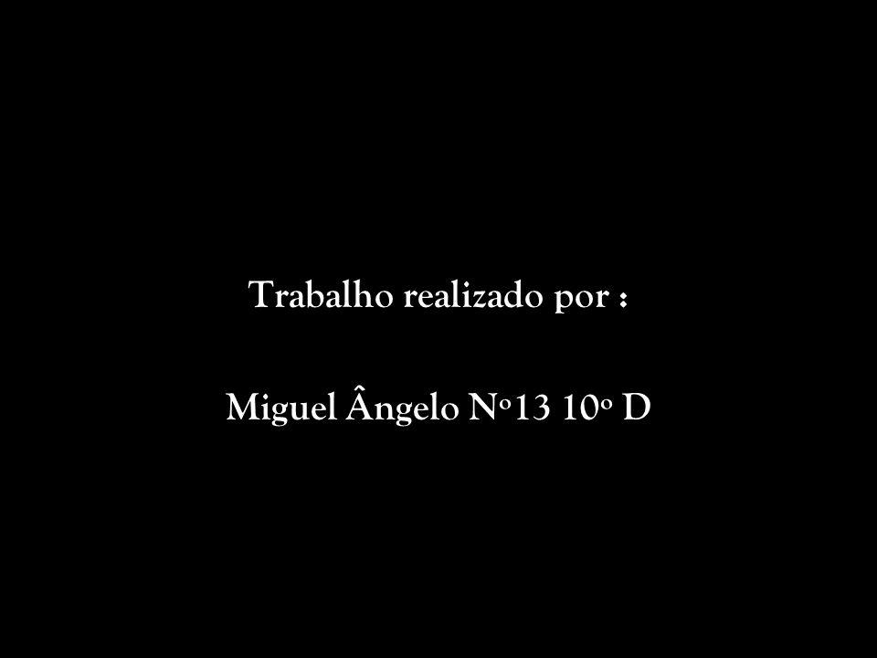 Trabalho realizado por : Miguel Ângelo Nº13 10º D