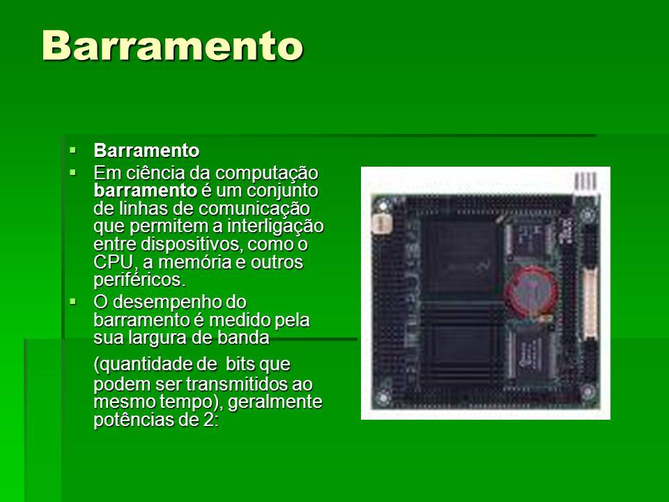 Barramento Barramento Barramento Em ciência da computação barramento é um conjunto de linhas de comunicação que permitem a interligação entre disposit