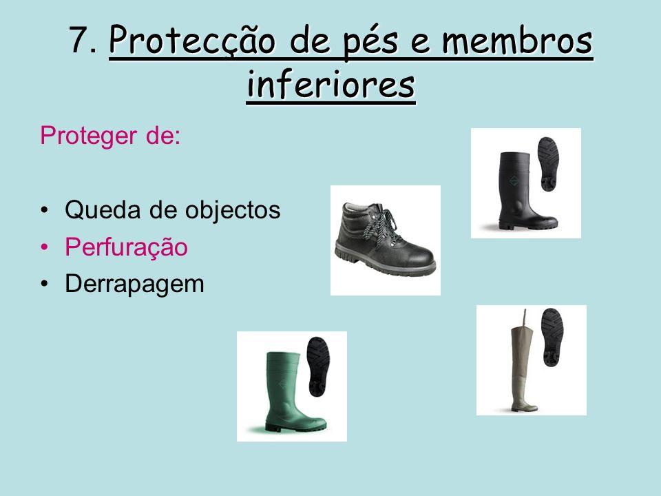 Protecção contra quedas 8.