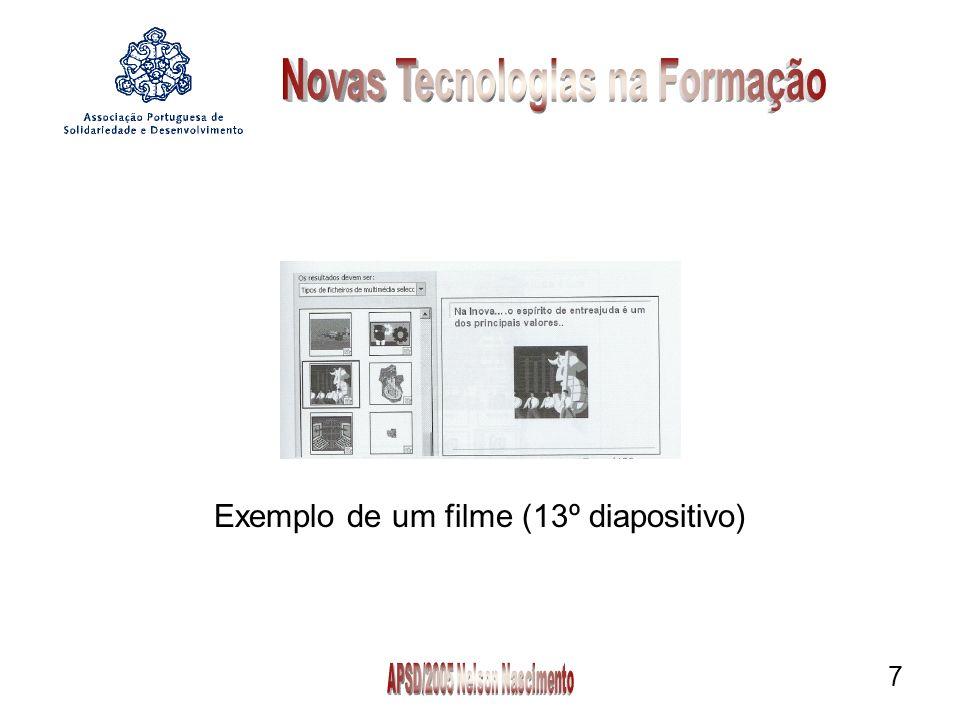 7 Exemplo de um filme (13º diapositivo)