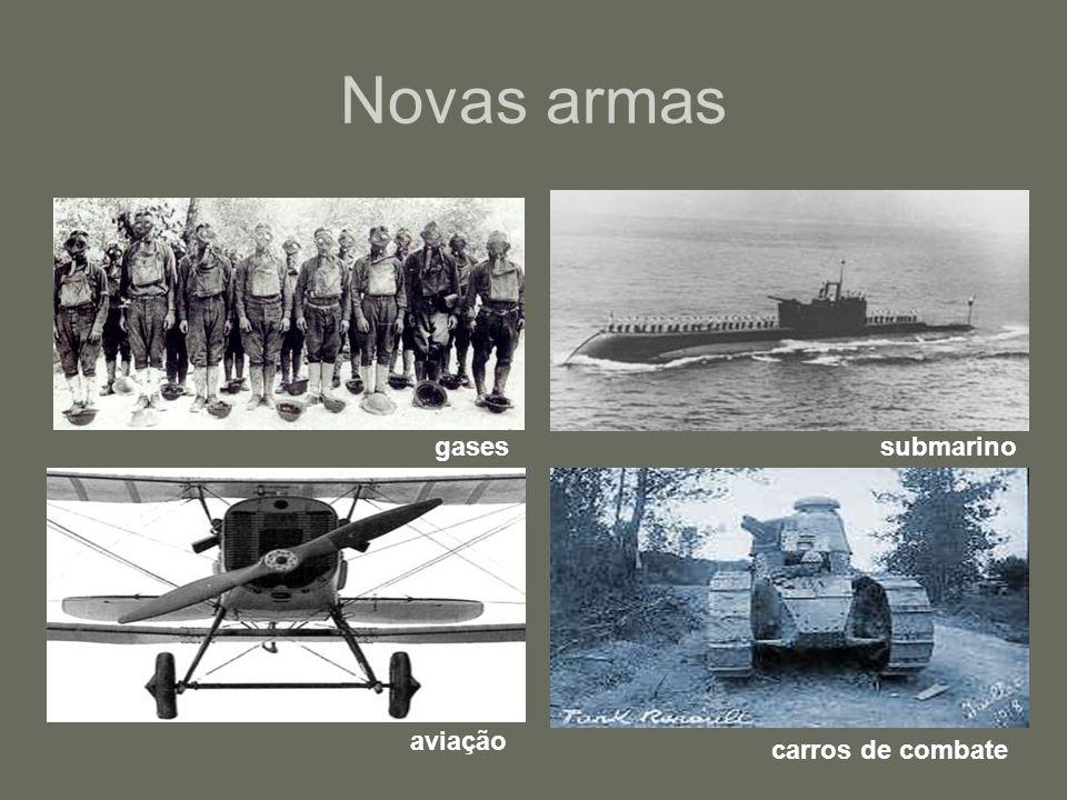 Novas armas gasessubmarino aviação carros de combate