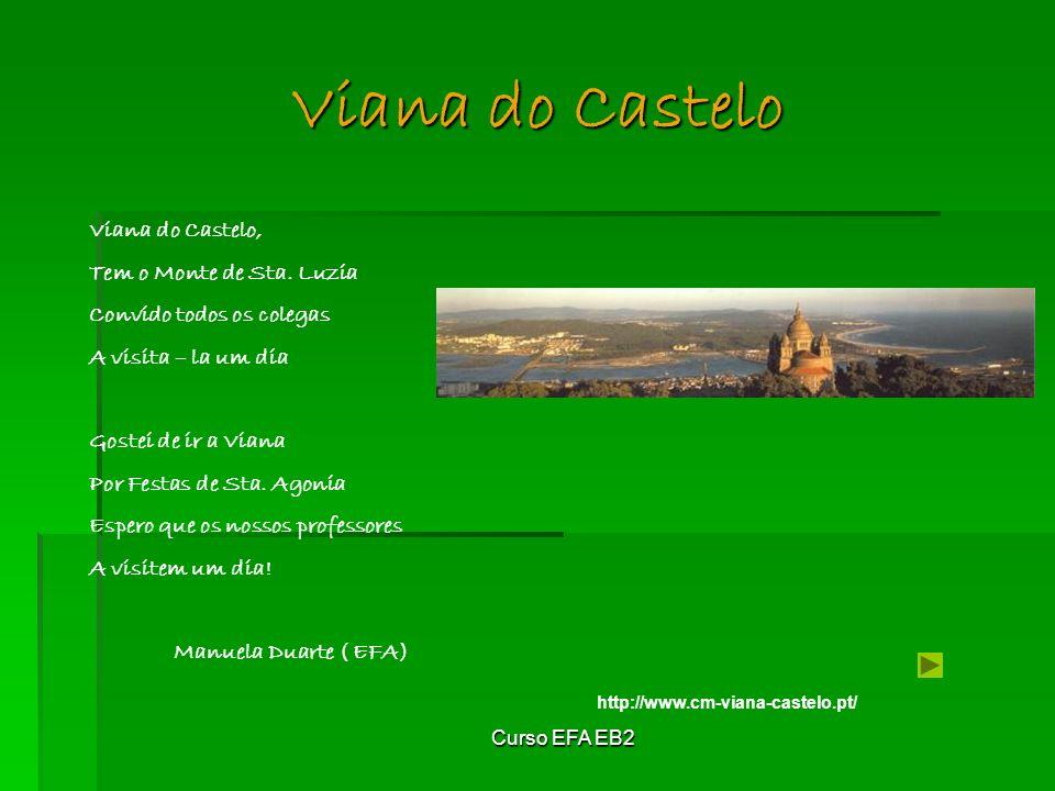 Curso EFA EB2 Viana do Castelo http://www.cm-viana-castelo.pt/ Viana do Castelo, Tem o Monte de Sta.