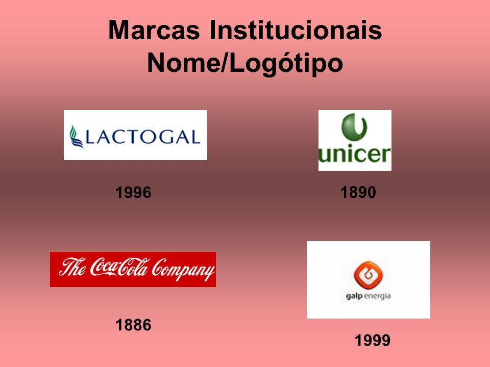 Marcas Institucionais Nome/Logótipo 1890 1999 1886 1996