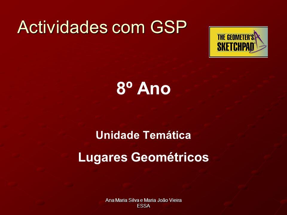 Ana Maria Silva e Maria João Vieira ESSA Actividades com GSP 8º Ano Unidade Temática Lugares Geométricos