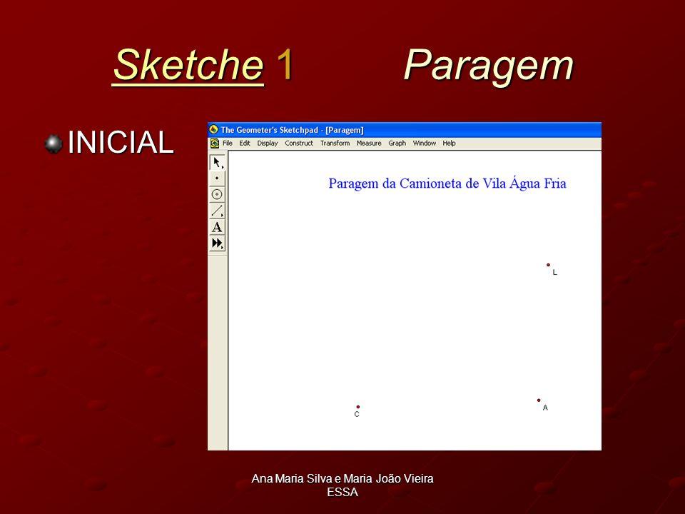 Ana Maria Silva e Maria João Vieira ESSA SketcheSketche 1 Paragem Sketche INICIAL