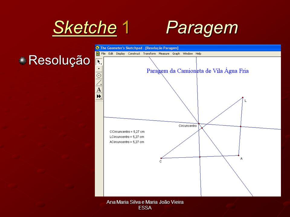 Ana Maria Silva e Maria João Vieira ESSA SketcheSketche 1 Paragem Sketche Resolução