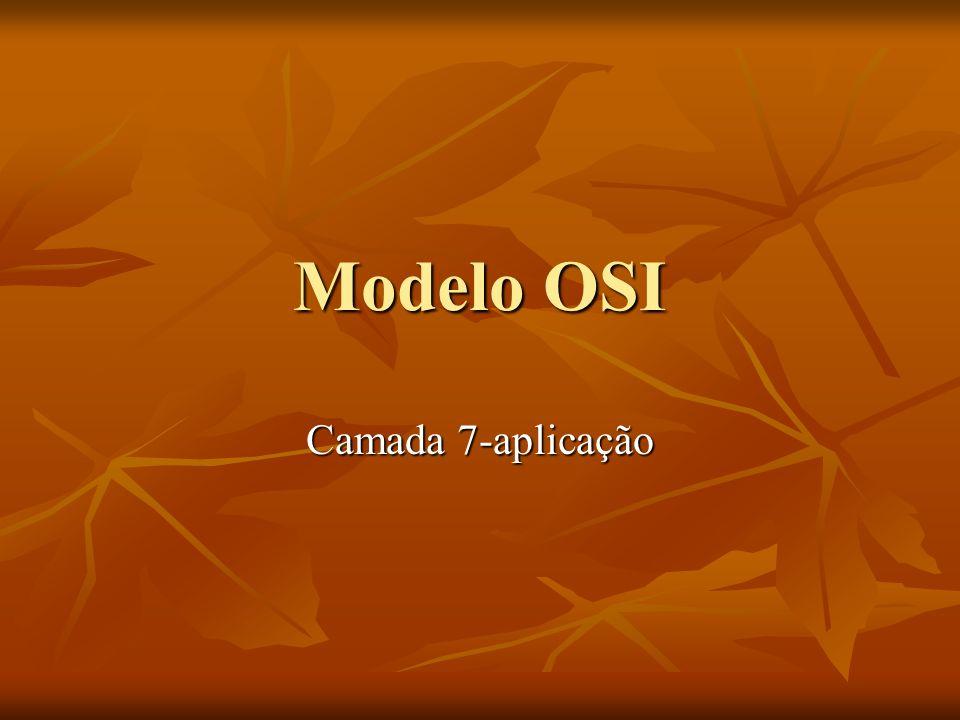 Modelo OSI Camada 7-aplicação
