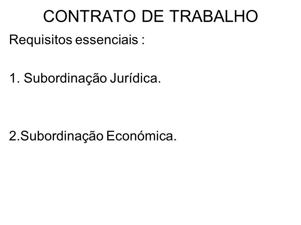 VÁRIOS TIPOS DE CONTRATO DE TRABALHO CONTRATO DE TRABALHO A TERMO -Termo Certo -Termo Incerto Nestes contratos existe uma limitação temporal da sua duração.