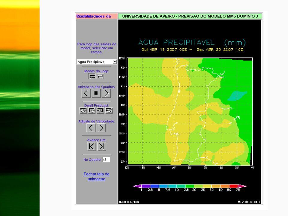 Implementação da determinação diária do índice de incêndio de Fosberg (FFWI) para a região de Portugal Necessidade de calibrar os diversos coeficientes do FFWI para Portugal.