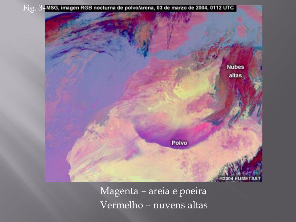 Magenta – areia e poeira Vermelho – nuvens altas Fig. 3-
