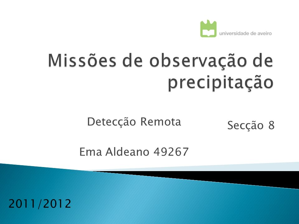 Secção 8 2011/2012 Detecção Remota Ema Aldeano 49267
