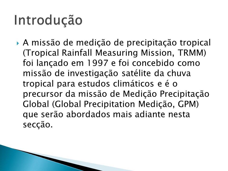 Instrumentos de detecção do GPM: Radar de 14 GHz -> medir as taxas de precipitação relativamente fortes nos trópicos, Radar de 35 GHz -> medir chuvas noutros lugares, especialmente em latitudes elevadas, onde os indices de chuva e neve são fracos.