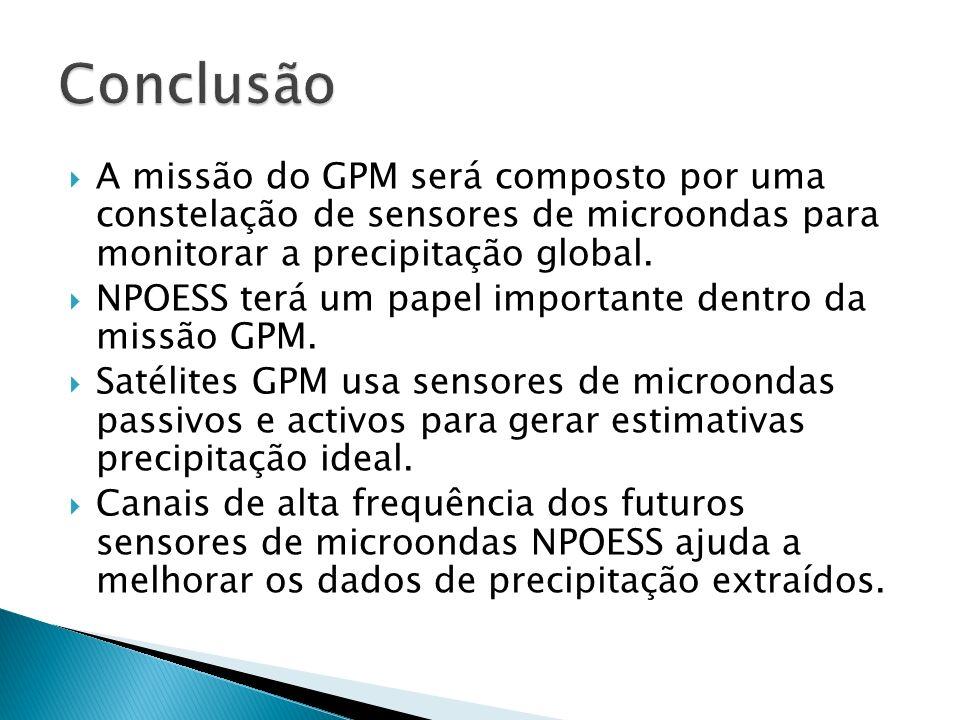 A missão do GPM será composto por uma constelação de sensores de microondas para monitorar a precipitação global. NPOESS terá um papel importante dent