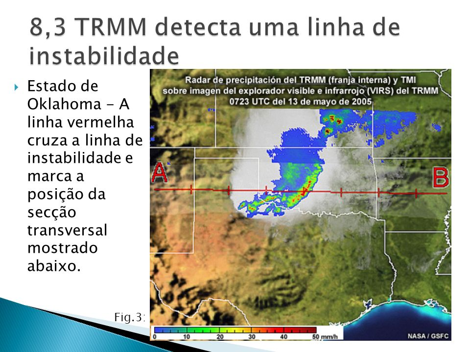 O radar de precipitação gera uma visualização tridimensional de alta resolução dos sistemas de precipitação a partir da perspectiva do satélite.